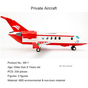 Image 2 - Sluban 0370 City Seriesการบินการแพทย์รถพยาบาลเครื่องบินรถบรรทุกรถตัวเลขการศึกษาอาคารบล็อกของเล่นสำหรับของขวัญเด็ก