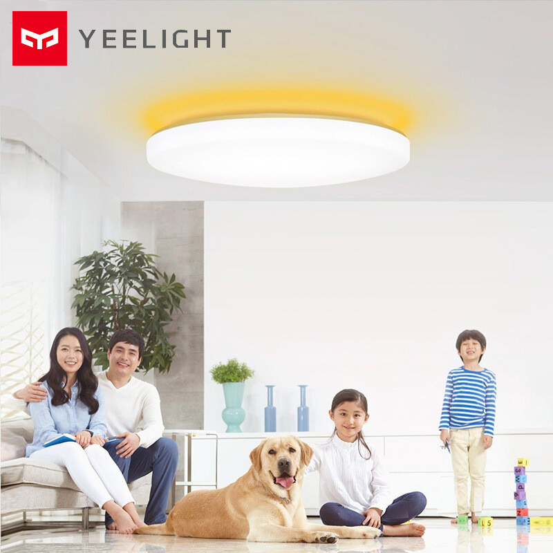 Yeelight jiaoyue 650 led inteligente luz de teto wifi bluetooth controle app com rgb lâmpada ambiente 50 w apoio alexa google casa