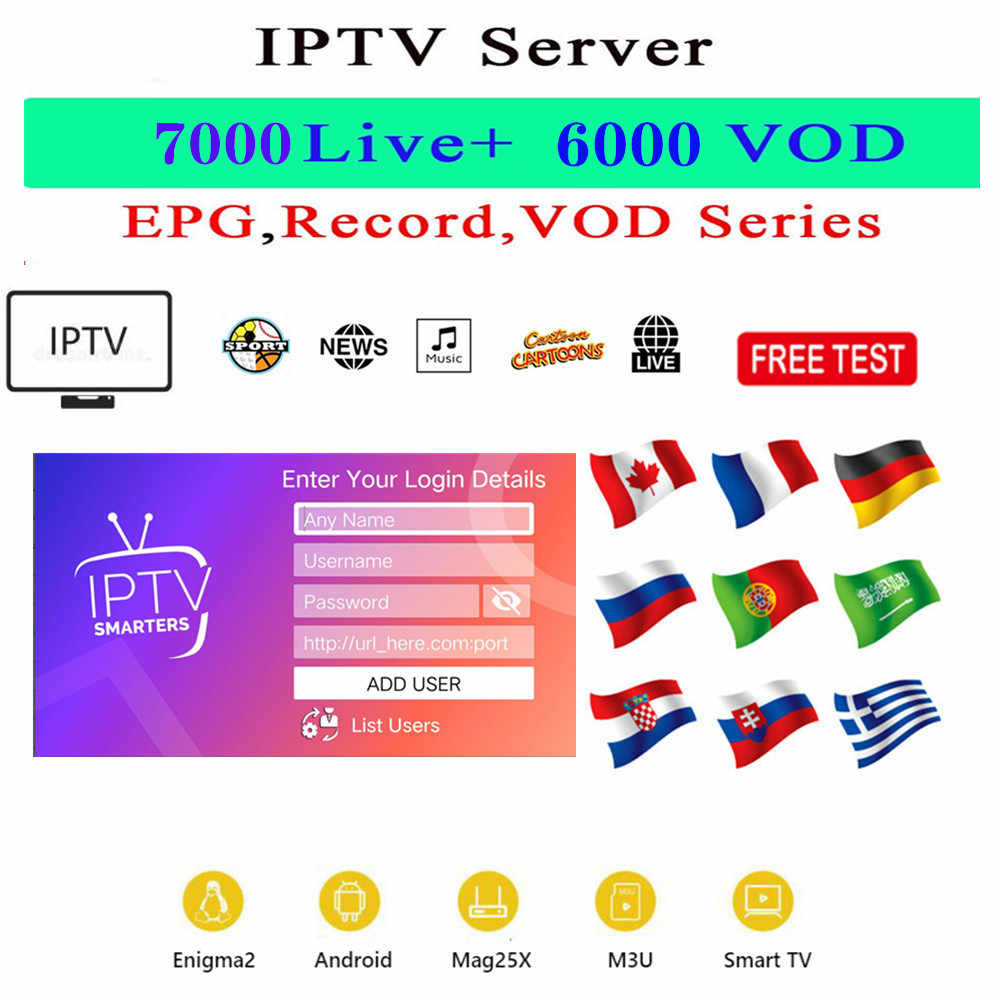 IPTV Portugal 1 Tahun Abonnement untuk Smart TV Android TV Box World IPTV Spanyol Berlangganan 4K IPTV M3U France saluran Dewasa