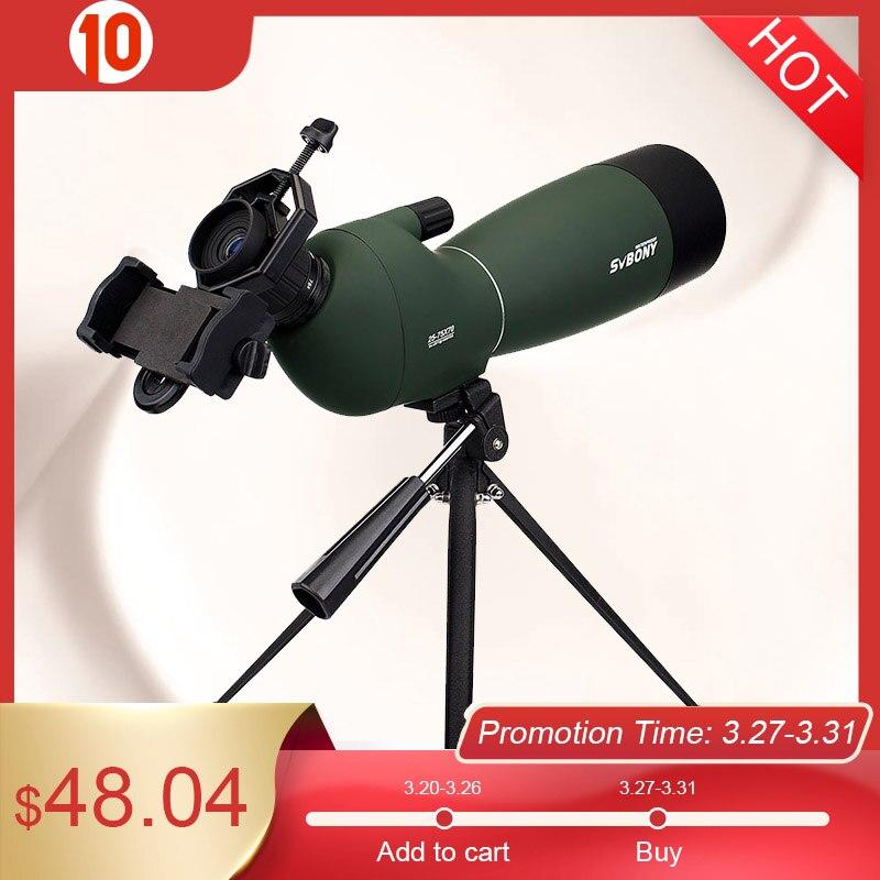 Svbony SV28 50/60/70 мм телескоп зум-зрительная труба водонепроницаемый монокуляр с универсальным адаптером телефона для охоты стрельба из лука наб...