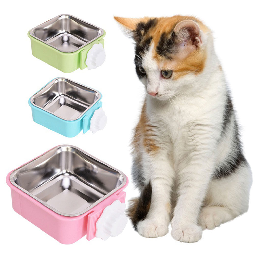 Outstanding/® Doble uso Pet Bowls perro de mascota cachorro gato autom/ático de agua potable alimentaci/ón plato de comida