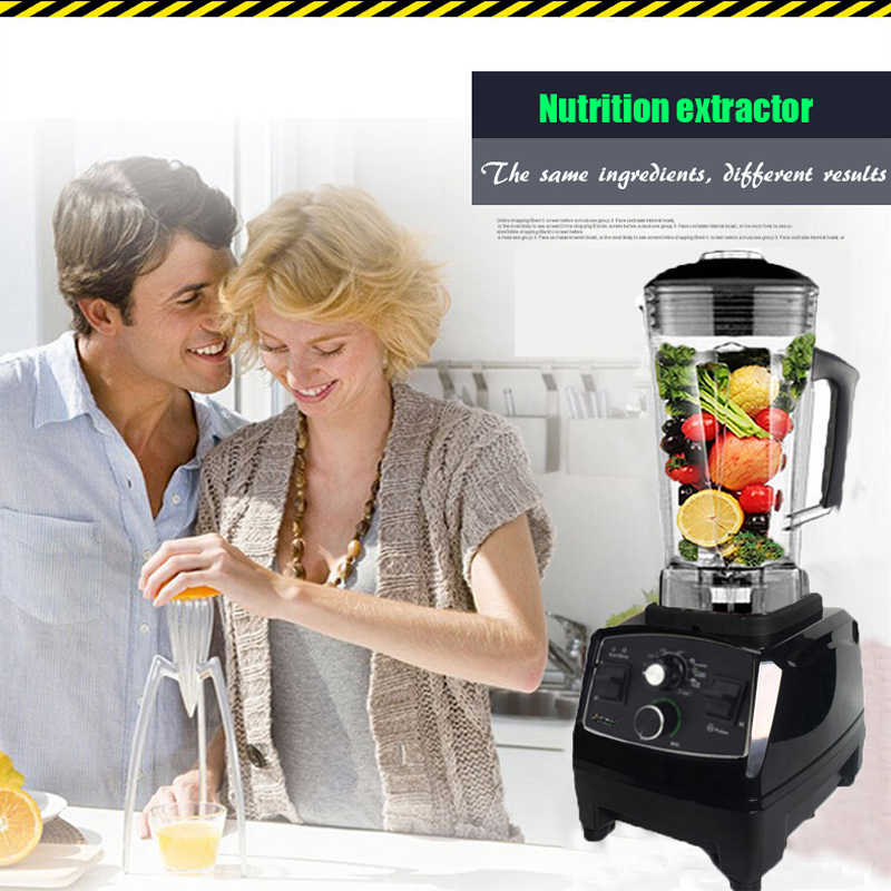 BPA Livre Temporizador Liquidificador Mixer Pesados da Classe Comercial Smoothies de Frutas Juicer Processador De Alimentos Triturador de Gelo Automático 2200W