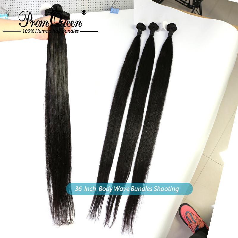 Promqueen    Bundles Straight 8-40inch 100%   Bundles Natural Color  Hair s 5