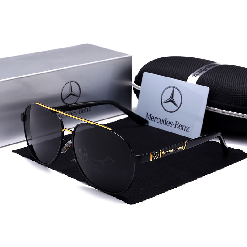 Foreign Trade New Style Mercedes 4S Shop Gift Wholesale Sun Glasses Benz Wholesale Car Only Reflective Lenses Men Driving Glasse