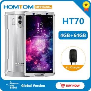 Image 1 - Global version HOMTOM HT70 10000mAh Big battery 4GB 64GB Mobile Phone MTK6750T 6.0 inch HD+ Octa core  Fingerprint smart phone