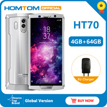 Wersja globalna HOMTOM HT70 10000mAh duża bateria 4GB 64GB telefon komórkowy MTK6750T 6.0 cal HD + Octa  core linii papilarnych inteligentny telefon