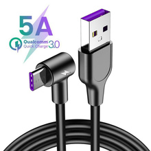 5A Supercharge USB Type C Cable For Huawei P10 P20 Lite P30 Pro Fast Charger USB C Cable For Samsung S10 S9 USBC Quick Charging quick charge 3 0 quick charger fast plug usb for charger huawei supercharge charger usb type c adapter for huawei p30 pro