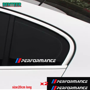 2pcs Reflective NEW M performance car windows sticker for BMW E30 E36 E46 E90 F01 F20 F30 E60 1 2 3 5 series x1 x3 x4 x5 x6 image