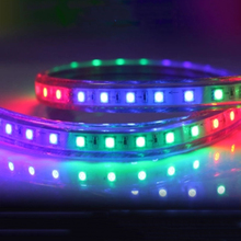 SMD 5050 AC220V RGB LED led strip waterproof flexible bar light 60led/M 5M 10M 15M 20M 25M + EU plug outdoor garden decoration