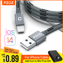 PZOZ Cable Usb para cable de iphone 11 12 pro max Xs Xr X SE 2 8 2 8 2 8 2 8 7 6 plus 6s 5s ipad aire mini 4 rápido cables de carga para cargador iphone charger accesorios 1M 2M usb cable