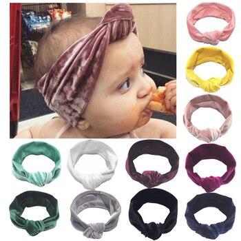 AA Baby Girl Headbands Velvet Headwear Bowknot Girls Toddler Hairbands Newborn Head Band Hair Accessories