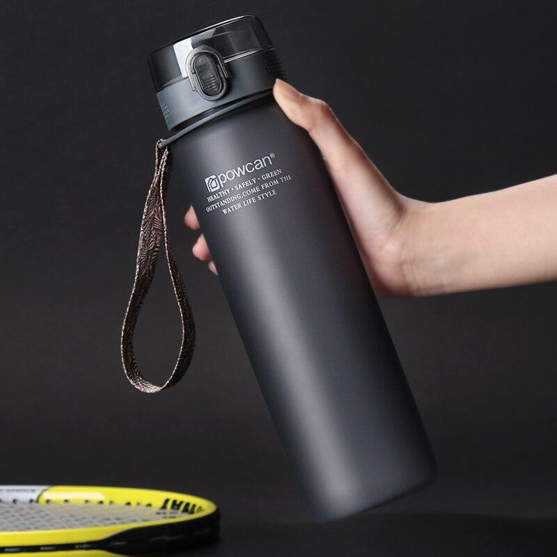 400/560ml Plastic Sports Water Bottle Sport Outdoor Leak Proof Seal Climbing Water Bottles Drinkware Tritan Protein Shaker-in Water Bottles from Home & Garden on AliExpress