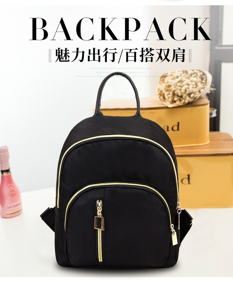 2020 Fashion New Style Backpack Korean-style Simple Backpack Waterproof Oxford Cloth Daypack