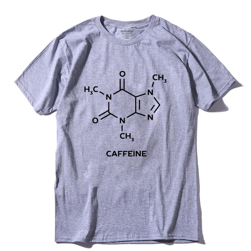 COOLMIND QI0260A 100% Cotton Cool Caffeine Print Men T Shirt Casual Short Sleeve Men T-shirt Cool Summer Men Tshirt Tee Shirts