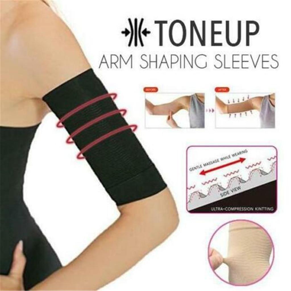 Women Arm Shaping Sleeves Ladies Elastic Slimming Shaperwear Female Solid Targets Cellulite Tone Up Arm Shaperwear
