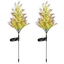 2 шт наружные Дворовые светодиодные огни для новогодней елки