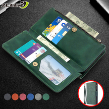 Custodia a portafoglio in pelle con cerniera per Samsung Galaxy S21 S20 FE S10 E S9 S8 nota 20 10 Ultra Plus Lite A81 A91 porta carte di credito Cover per telefono