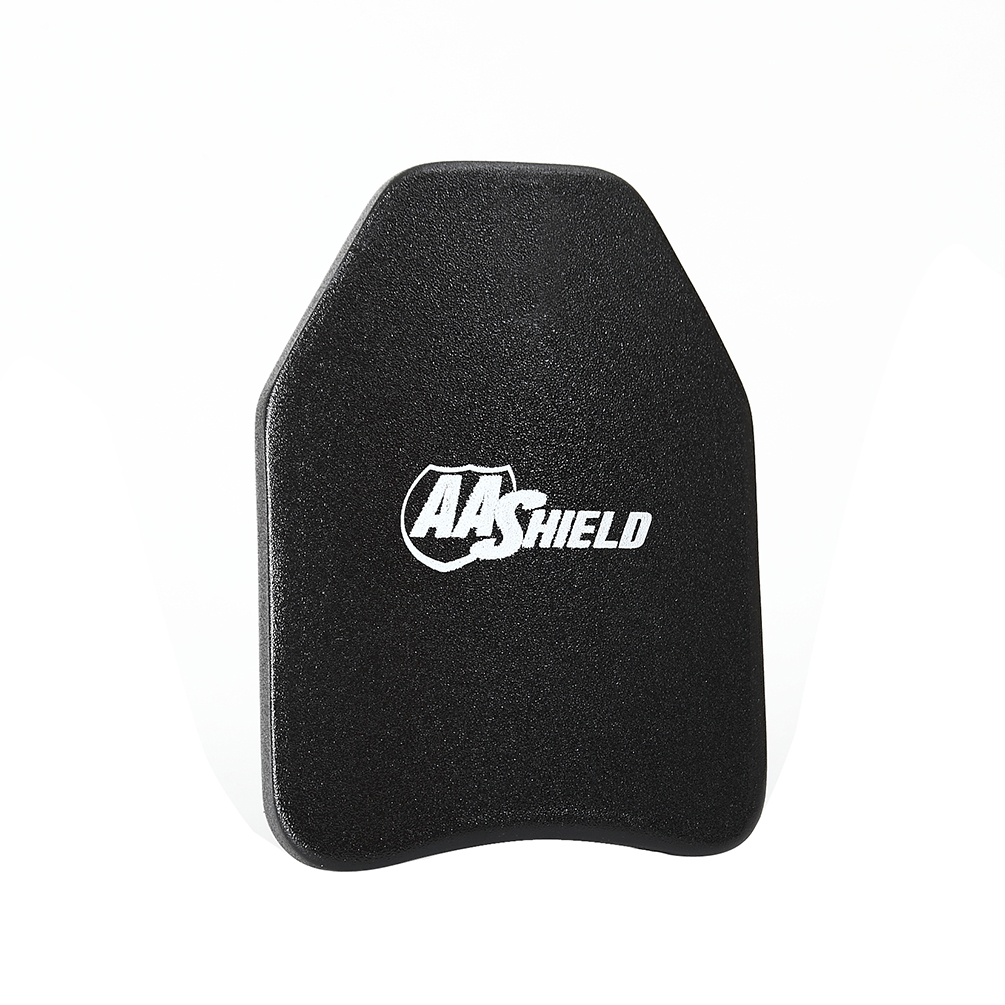 AA Shield Bullet Proof Ultra-Light Weight Hard Plate Body Armor Inserts Safety Arc Shape Shooter Cut NIJ 3 III 8.5x11.5 / 1 PC