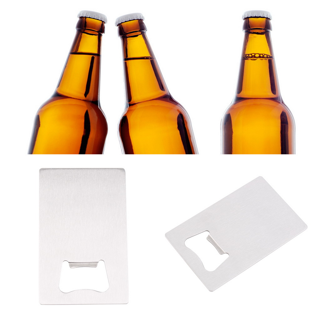 1 Piece Wallet Size Stainless Steel Credit Card Bottle Opener Business Card Beer Openers