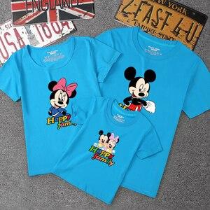 Image 5 - 2020 ฤดูร้อนสำหรับครอบครัวชุด Mickey แขนสั้นเสื้อยืดครอบครัวแม่และลูกสาวเสื้อผ้าลูกชายพ่อเด็ก 14 สี