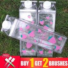 500ML su şişesi Drinkware çevre dostu Shaker kabak mutfak eşyaları su şişesi 1000ml şişelenmiş su sütlü içecek spor şişeler