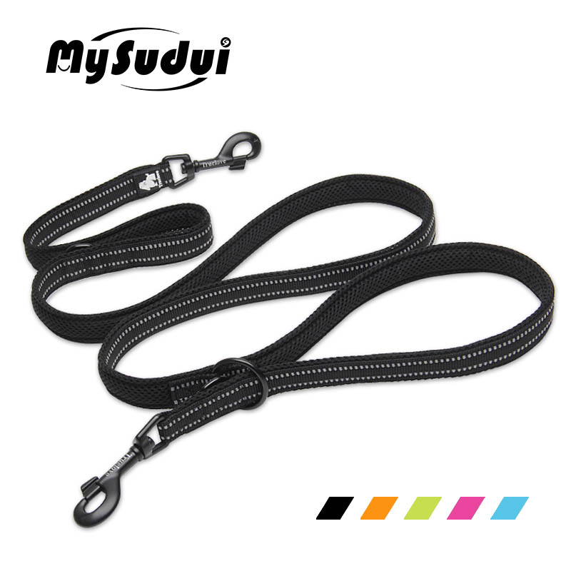 MySudui Truelove 7 In 1 Multi-Function Nylon Dog Leash For Double Running Training Hands Free Pet Honden Halsband