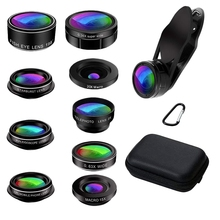 New Phone Camera Lens, 9 In 1 Phone Lens Kit For phone X Xs Max 8 7 Plus Samsung S10 S10E S9 S8