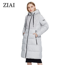 Female Jacket Women Parka Fashion Coat Beige Office Long Lady Windproof ZIAI Winter