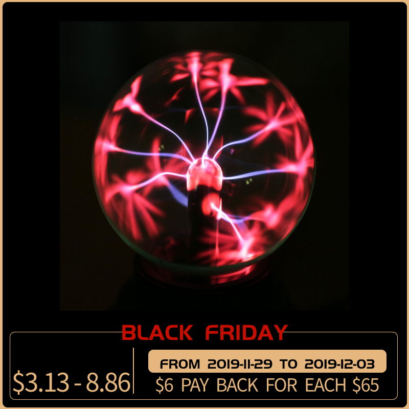 Plasma Ball USB New Items Sphere Light Magic Crystal Lamp Desktop Lightning Christmas Party Touch Sensitive Lights Electrostatic