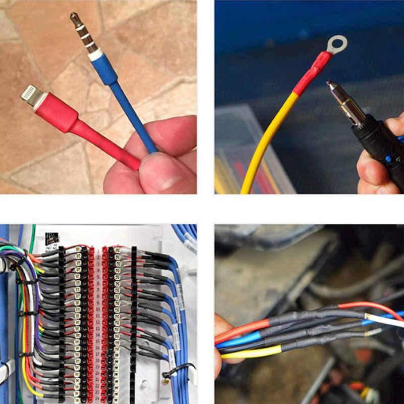 560 個 2:1 電線ケーブルラップ詰め合わせ熱収縮チューブ絶縁収縮管電気絶縁スリーブキット