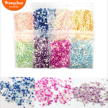 400pcs/bag Mixed Color Artificial Pearl DIY Gift Box Filler Christmas Candy Packaging Supplies Bag Decoration