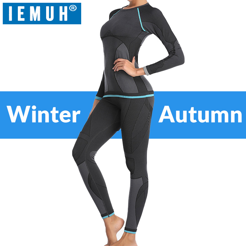 IEMUH Winter Thermal Underwear Sets Women Long Johns Quick Dry Stretch Ladies Thermo Underwear Female Warm Thermo Clothing Gift