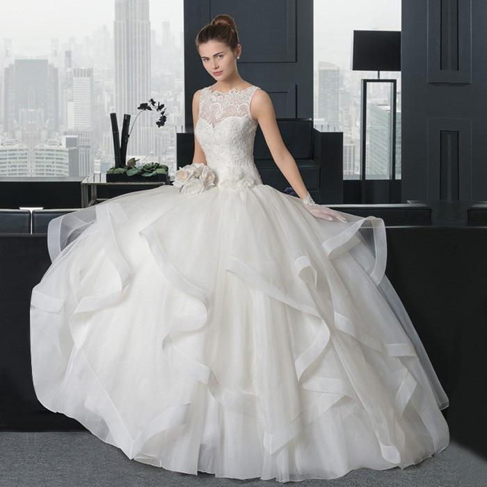 Zipper Ball Gown 2018 Vestido De Noiva Casamento Lace High Neck Floor Length Romantic Bridal Gown Mother Of The Bride Dresses