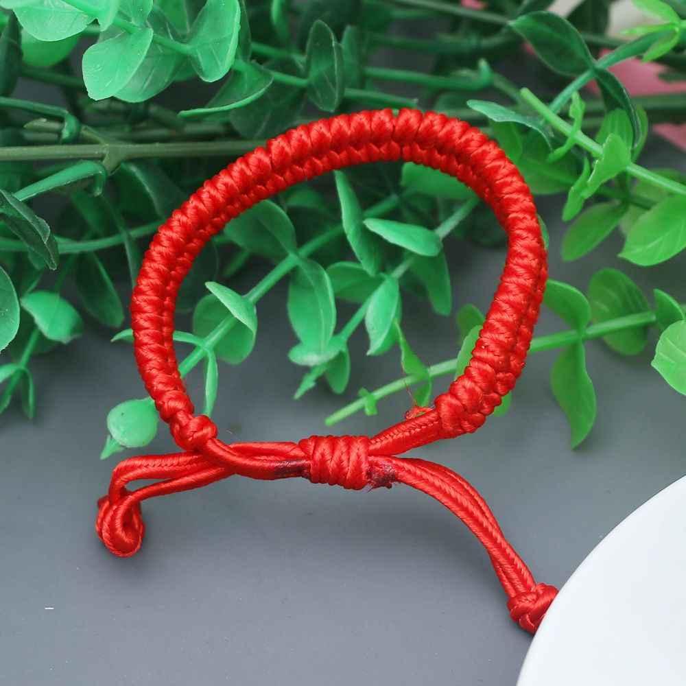 2019 pulsera China ajustable tejido rojo cadena suerte China King Kong nudo pulseras para mujer y hombre DIY joyería