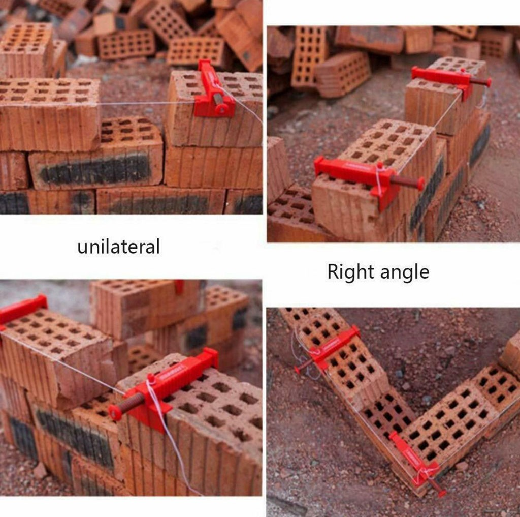 2pc Brick Liner Wall Builder Building Wire Frame Brick Liner Runner Wire Drawer Bricklaying Tool Fixer For Building Construction