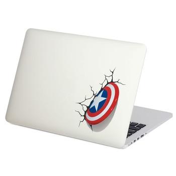 """Captain America Shield Laptop Sticker for Macbook Decal Pro 16"""" Air Retina 11 12 13 15 inch Mac Book Notebook Cover Skin Sticker"""