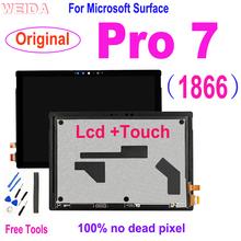 Oryginalny Lcd dla Microsoft Surface Pro 7 1866 wyświetlacz LCD montaż digitizera ekranu dotykowego dla Microsoft Surface Pro 7 Pro7 Lcd tanie tanio Tablet lcd CN (pochodzenie) 10 ~ 13 cal For Microsoft Surface Pro 7 Pojemnościowy ekran Uniwersalny 12 3 Tested Before Shipping