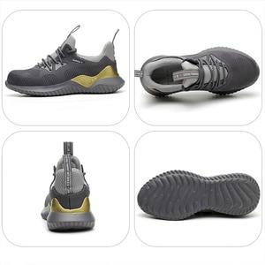 Image 2 - MWSC zapatos de trabajo de seguridad para hombre, botas de trabajo con punta de acero antigolpes, indestructibles, zapatillas de seguridad