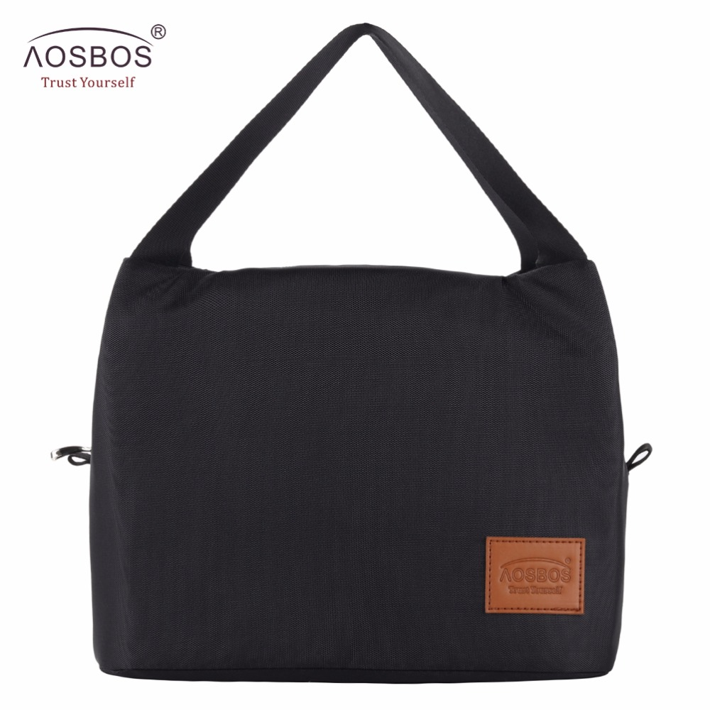 Aosbos 2019 Brand Thermal Insulated Lunch Bags Keep Food Fresh Lunch Box Bag Picnic Travel Storage For Women Kids Tote Handbag