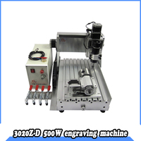 4axis cnc machine 3020 500W water cooling  spindle milling  300*200mm with ER11 collet