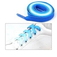 1 paire/lacets colorés lacets plats mode toile loisirs bonbons fête tissu lacet femme et hommes chaussure dentelle