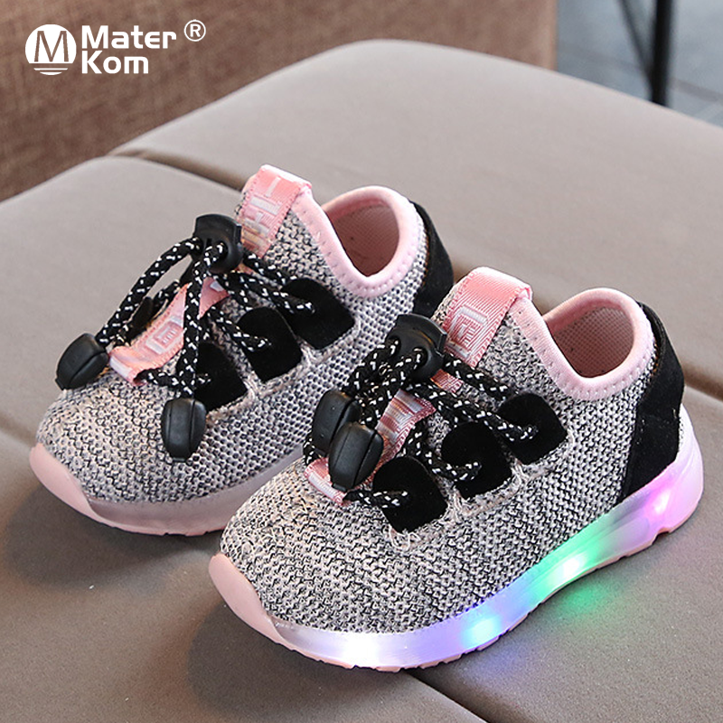 Size 21-30 Children's Casual Sneakers Baby Boys Girls Glowing Shoes Lighted Sneakers Kids Led Shoes Lumious Shoes With Light