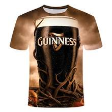 2020 Novelty 3d T Shirt Men Cans Of Beer Printed Hip Hop Crewneck Short Sleeve Men /Women T -Shirt Tee Tops Loose Big Yards