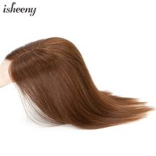 Isheeny Human Hair Piece Hand Woven Middle Part 10