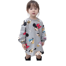 2019 New Girls Cartoon Mickey Dress Baby Girl Spring Autumn Long-sleeve Cartoon Animation T-shirt Dress Children Clothes