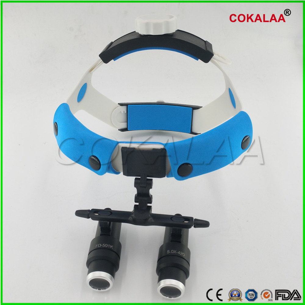 5X Dental Surgical Medical Headband Binocular Loupes Glasses Magnifier Galilean Optics system surgeon operation image