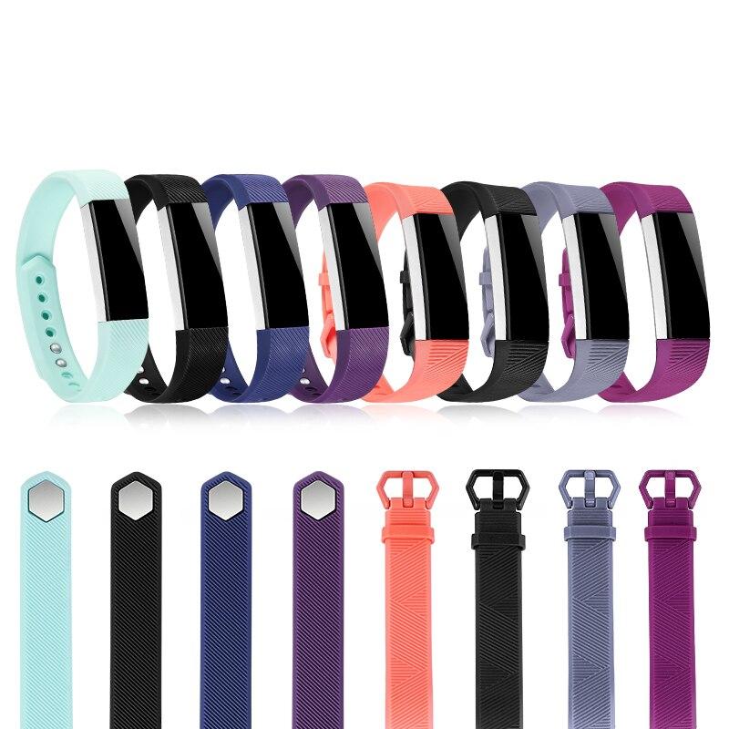 Correa de silicona de Alta calidad para Fitbit Alta HR, pulsera con correa de muñeca suave ajustable, accesorios de repuesto para reloj