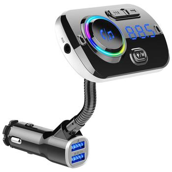 Smart FM Transmitter Bluetooth MP3 Player Car FM Modulator QC3.0 Fast Charger Car Radio Adapter Wireless Transmitter for Vehicle