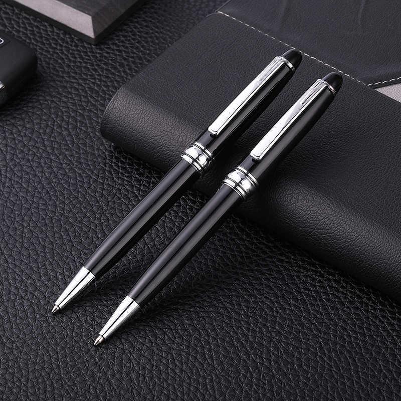 Guoyi A013 siyah G2 424 metal tükenmez kalem öğrenme ofis okul kırtasiye hediyeler lüks kalem ve otel iş dolum