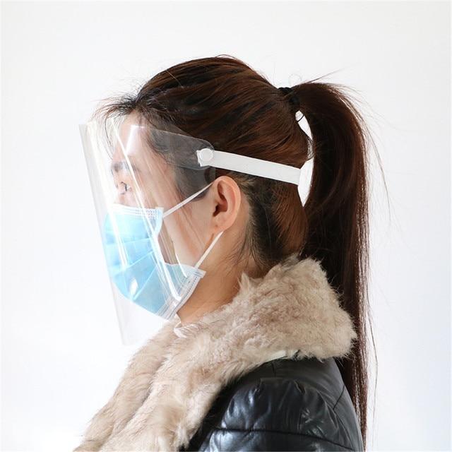 Anti-fog artifact protective cap PET Transparent Safety Hat Face Shield Anti-Saliva Virus Dustproof Flip-up Face Protection Mask 2